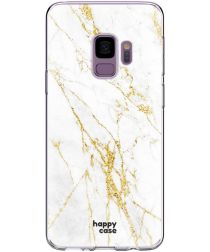 HappyCase Samsung Galaxy S9 Hoesje Flexibel TPU Wit Marmer Print
