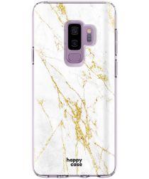 HappyCase Samsung Galaxy S9 Plus Hoesje Flexibel TPU Wit Marmer Print