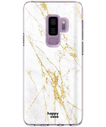 HappyCase Samsung Galaxy S9 Plus Hoesje Flexibel TPU Wit Marmer Print Hoesjes