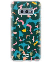 HappyCase Samsung Galaxy S10E Hoesje Flexibel TPU Summer Leopard Print
