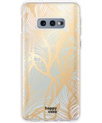 HappyCase Samsung Galaxy S10E Hoesje Flexibel Golden Leaves Print