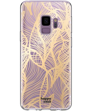 HappyCase Samsung Galaxy S9 Hoesje Flexibel TPU Golden Leaves Print Hoesjes
