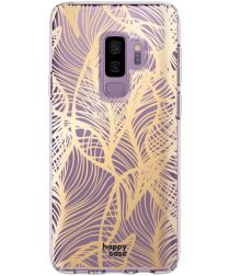 HappyCase Samsung Galaxy S9 Plus Hoesje Flexibel TPU Golden Leaves