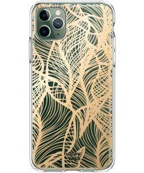 HappyCase iPhone 11 Pro Hoesje Flexibel TPU Golden Leaves Print
