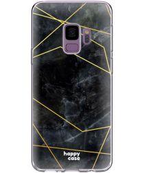 HappyCase Samsung Galaxy S9 Hoesje Flexibel TPU Zwart Marmer Print