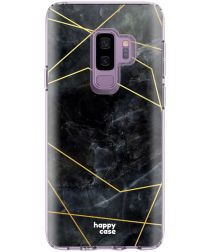 HappyCase Samsung Galaxy S9 Plus Hoesje Flexibel TPU Zwart Marmer