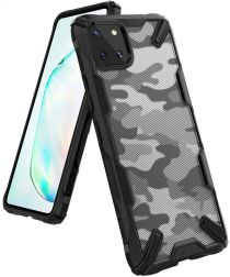 Ringke Fusion X Samsung Galaxy Note 10 Lite Hoesje Camo Design Zwart