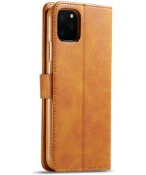 Apple iPhone 11 Pro Max Stand Portemonnee Bookcase Hoesje Bruin
