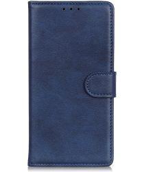 Samsung Galaxy S10 5G Matte Portemonnee Hoesje Blauw