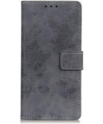 Samsung Galaxy S10 5G Vintage Portemonnee Hoesje Grijs