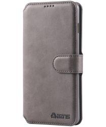 AZNS Samsung Galaxy S10 Portemonnee Hoesje Grijs Kunstleer