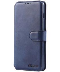 AZNS Samsung Galaxy S10 Portemonnee Hoesje Blauw Kunstleer