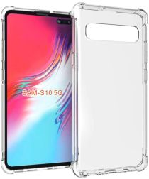 Samsung Galaxy S10 5G Hoesje TPU met Bumpers Transparant