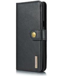 Samsung Galaxy S10 5G Echt Leren Portemonnee Hoesje Zwart