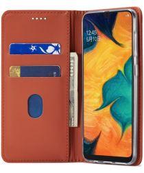 Samsung Galaxy A40 Hoesje Wallet Bookcase Kunstleer Bruin