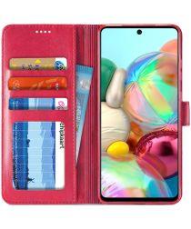 Samsung Galaxy A71 Retro Book Case Portemonnee Hoesje Roze