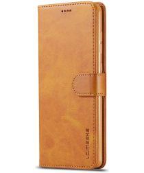 Samsung Galaxy A71 Retro Book Case Portemonnee Hoesje Bruin