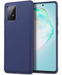 Samsung Galaxy S10 Lite Hoesje Twill Slim Textuur Blauwv