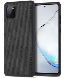 Samsung Galaxy Note 10 Lite Hoesje Twill Slim Textuur Zwart