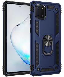 Samsung Galaxy Note 10 Lite Hybride Hoesje met Kickstand Blauw