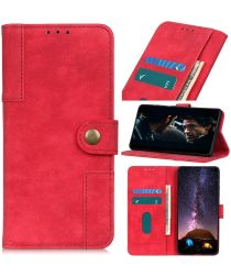 Samsung Galaxy Note 10 Lite Stand Portemonnee Hoesje Rood