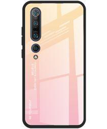 Xiaomi Mi 10 (Pro) Hoesje Hybride Tempered Glass Roze