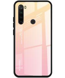 Xiaomi Redmi Note 8T Hoesje Hybride Tempered Glass Roze