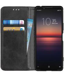 Sony Xperia 1 II Portemonnee Stand Hoesje Zwart