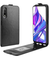 Huawei P Smart Pro Verticale Flipcase Zwart