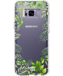 HappyCase Samsung Galaxy S8 Flexibel TPU Hoesje Leaves Print