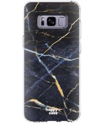 HappyCase Samsung Galaxy S8 Hoesje TPU Donker Marmer Print