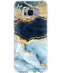 HappyCase Samsung Galaxy S8 Hoesje Flexibel TPU Blauw Marmer Print