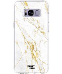 HappyCase Samsung Galaxy S8 Hoesje Flexibel TPU Wit Marmer Print