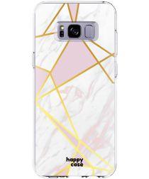 HappyCase Samsung Galaxy S8 Hoesje Flexibel TPU Roze Marmer Print