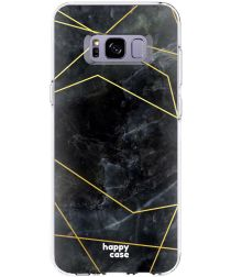 HappyCase Samsung Galaxy S8 Hoesje Flexibel TPU Zwart Marmer Print