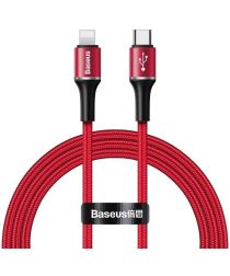 Baseus Halo Quick Charge Apple Lightning Lichtgevende Kabel 1m Rood