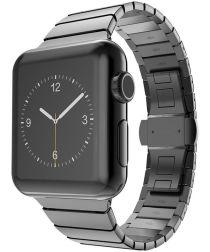Apple Watch 44MM / 42MM Bandje Luxe Schakelband Roestvrij Staal Zwart