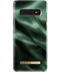 iDeal of Sweden Samsung Galaxy S10 Plus Fashion Hoesje Emerald Satin