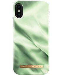 iDeal of Sweden iPhone XS / X Fashion Hoesje Pistachio Satin