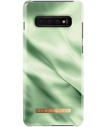 iDeal of Sweden Samsung Galaxy S10 Plus Fashion Hoesje Pistachio Satin