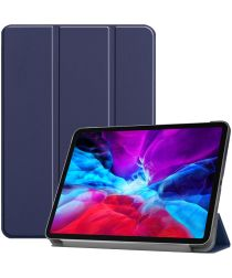 Apple iPad Pro 12.9 (2020) / (2018) Tri-Fold Flip Case Blauw