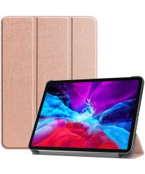 Apple iPad Pro 12.9 (2020) / (2018) Tri-Fold Flip Case Roze
