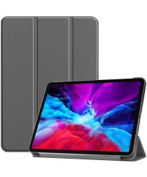 Apple iPad Pro 12.9 (2020) / (2018) Tri-Fold Flip Case Grijs