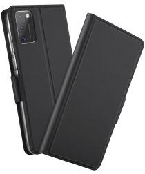 Samsung Galaxy A41 Luxe Portemonnee Hoesje Zwart