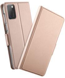 Samsung Galaxy A41 Luxe Portemonnee Hoesje Rose Goud