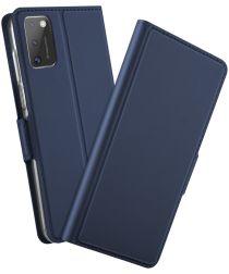 Samsung Galaxy A41 Luxe Portemonnee Hoesje Blauw