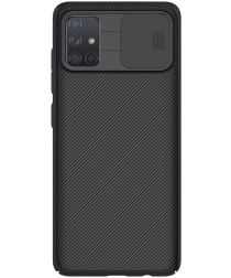 Nillkin CamShield Samsung Galaxy A71 Hoesje met Camera Slider Zwart