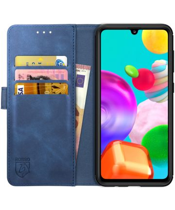 Rosso Element Samsung Galaxy A41 Hoesje Book Cover Blauw Hoesjes