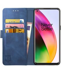 Rosso Element OnePlus 8 Hoesje Book Cover Blauw