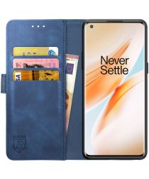 Rosso Element OnePlus 8 Pro Hoesje Book Cover Blauw